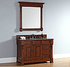 "James Martin Brookfield Collection 48"" Single Vanity with Drawers, Warm Cherry"