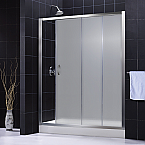 Infinity Shower Door SHDR-1060726 Frosted Glass