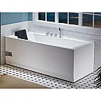EAGO 6' Rectangular Corner Whirlpool Spa