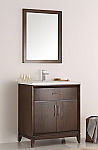 30 inch Antique Coffee Finish Traditional Bathroom Vanity with Mirror