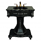 AFD Ebony Pedestal Bathroom Vanity