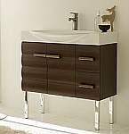 LaToscana Onda Bathroom Vanity and Swing Ceramic Top
