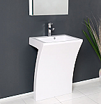 22 inch Modern Bathroom Vanity White Pedestal Sink