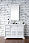 48 inch White Finish Single Cottage  Bathroom Vanity Optional Countertop
