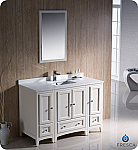 "Fresca Oxford 54"" Traditional Bathroom Vanity Antique White Finish"