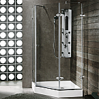 "Vigo 42"" x 42"" Neo-Angle Shower Enclosure"