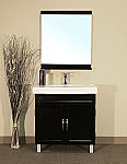 Bella 31 inch Black Wood Single Bathroom Vanity