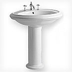 China Round 29.5 inch Traditional Pedestal Bathroom Sink