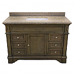 ADF Exclusive 48 inch Stone Top Single Sink Bathroom Vanity