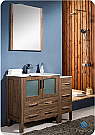 42 inch Walnut Modern Bathroom Vanity