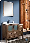 Fresca Torino 42 inch Walnut Modern Bathroom Vanity