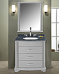 30 inch Modern Bathroom Vanity Grey Finish