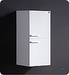 28 inch White Bathroom Linen Side Cabinet
