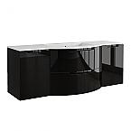 Anity 57 inch Modern Floating Bathroom Vanity Black Glossy Finish