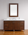 "James Martin Metropolitan Collection 60"" Single Vanity, American Walnut"