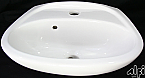 Bathroom Wall Mounted White Porcelain Sink