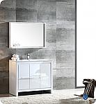 "Allier 40"" Modern Bathroom Vanity Glossy White Finish"