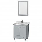 "Acclaim 30"" Single Bathroom Vanity in Oyster Gray, Undermount Square Sink with Countertop and Mirror Options"