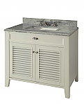 30 inch Adelina Cottage Style Bathroom Vanity with Italian Carrara Marble Top
