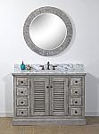 48 inch Rustic Bathroom Vanity Stone Countertop