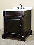 Bella 30 inch Bathroom Vanity Espresso Finish Cream Marble Top