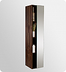 67 inch Walnut Bathroom Linen Side Cabinet