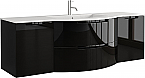 Anity 67 inch Modern Floating Bathroom Vanity Black Finish