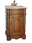 21 inch Adelina Petite Antique Walnut Finish Bathroom Vanity