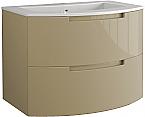 Anity 39 inch Modern Floating Bathroom Vanity Sand Glossy Finish