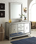 Adelina 59 inch Styled Mirrored Cabinet with Mirror