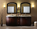 "Xylem Capri 84"" Dark Espresso Bathroom Vanity"
