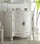 32 inch Adelina Antique Bathroom Vanity White Finish