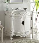 32 inch Adelina Antique Bathroom Vanity White Finish