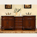 Accord Antique 80 inch Double Sink Bathroom Vanity