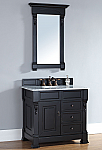 "James Martin Brookfield Collection 36"" Single Vanity with Drawers, Anitque Black"