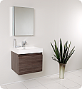 Fresca Nano Gray Oak Modern Bathroom Vanity