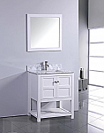 Adelina 30 inch Contemporary White Finish Bathroom Vanity Cabinet