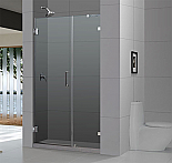 "DreamLine 72"" X 60"" Radiance Frameless Shower Door, Chrome or Brushed Nicke Finish"