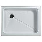 Vigo Rectangular Shower Tray White Left Drain