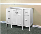 Bella 44 Inch White Finish Vanity Base Only