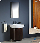 Fresca Andria Wenge Brown Modern Bathroom Vanity