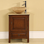 Silkroad Exclusive HYP-0158-T Single Sink Bathroom Vanities