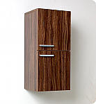 28 inch Walnut Bathroom Linen Side Cabinet