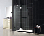 "DreamLine 45"" x 72"" Aqua Lux Shower Door Brushed Nickel Finish"