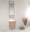"Fresca Pulito 15,5"" Light Oak Modern Bathroom Vanity"