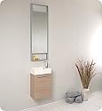 15 inch Light Oak Modern Bathroom Vanity