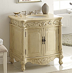 32 inch Adelina Antique Pastel Finish Bathroom Vanity