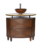"Adelina 38"" Contemporary Vessel Sink Bathroom Vanity"