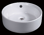 "EAGO BA129 16"" ROUND CERAMIC ABOVE MOUNT BATHROOM BASIN VESSEL SINK"
