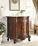 27 inch Adelina Antique Bathroom Vanity Lush Wood Finish